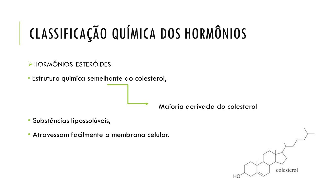 CLASSIFICAÇÃO QUÍMICA DOS HORMÔNIOS