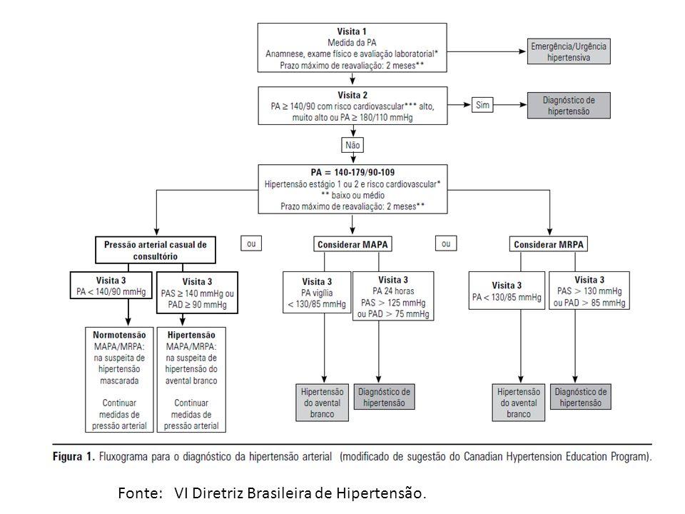 Fonte: VI Diretriz Brasileira de Hipertensão.