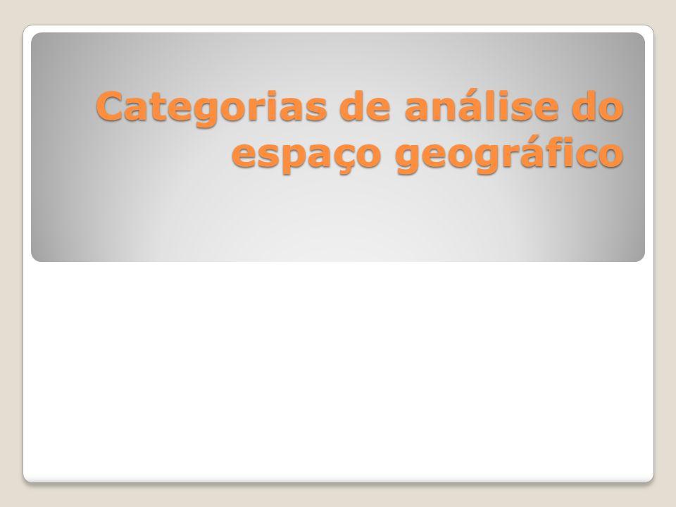 Categorias de análise do espaço geográfico