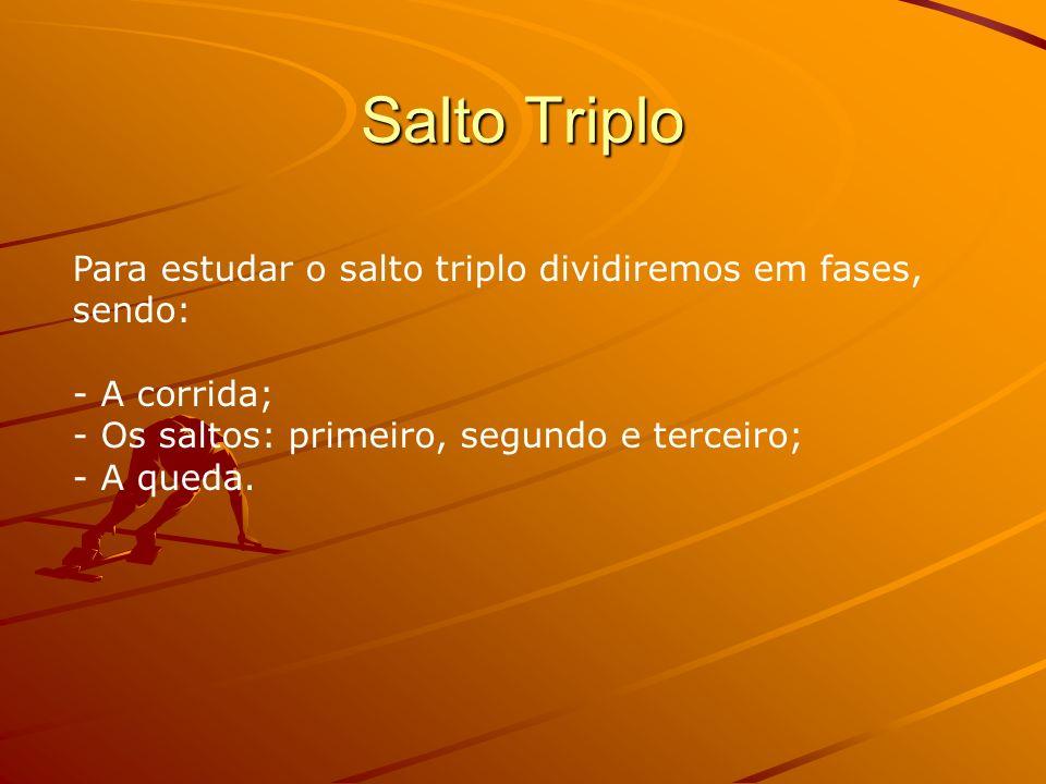 Salto Triplo Para estudar o salto triplo dividiremos em fases, sendo: