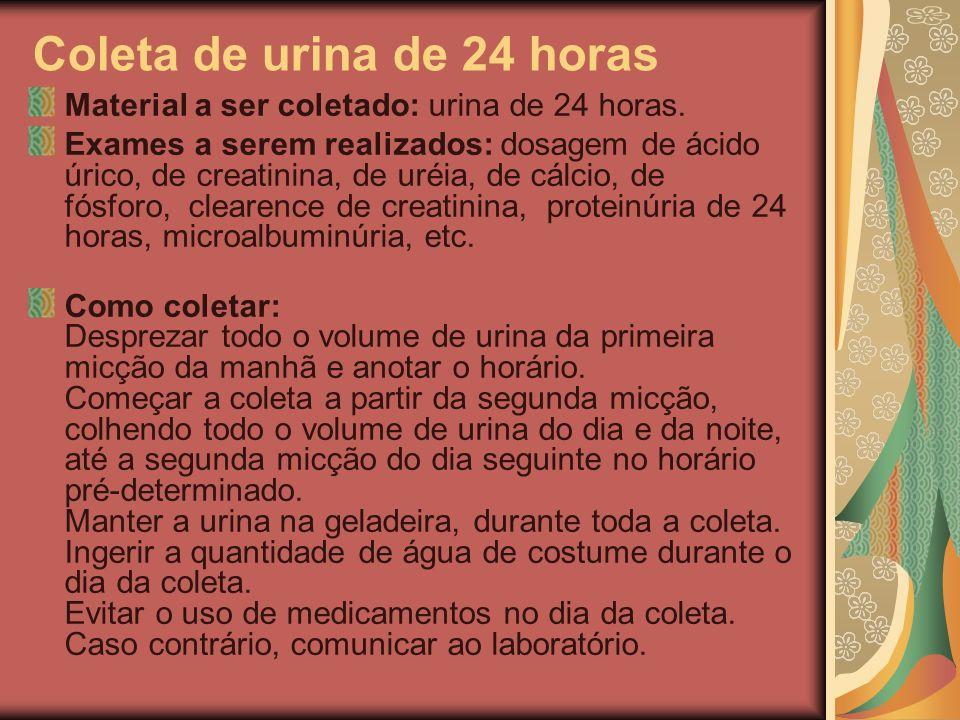 Coleta de urina de 24 horas