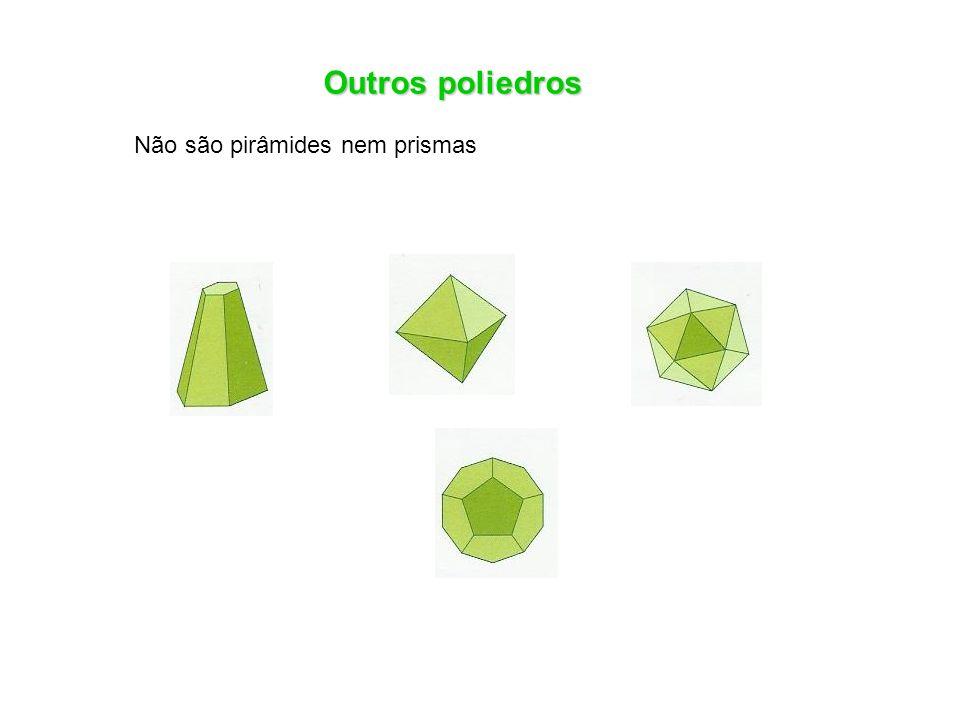 Outros poliedros Não são pirâmides nem prismas