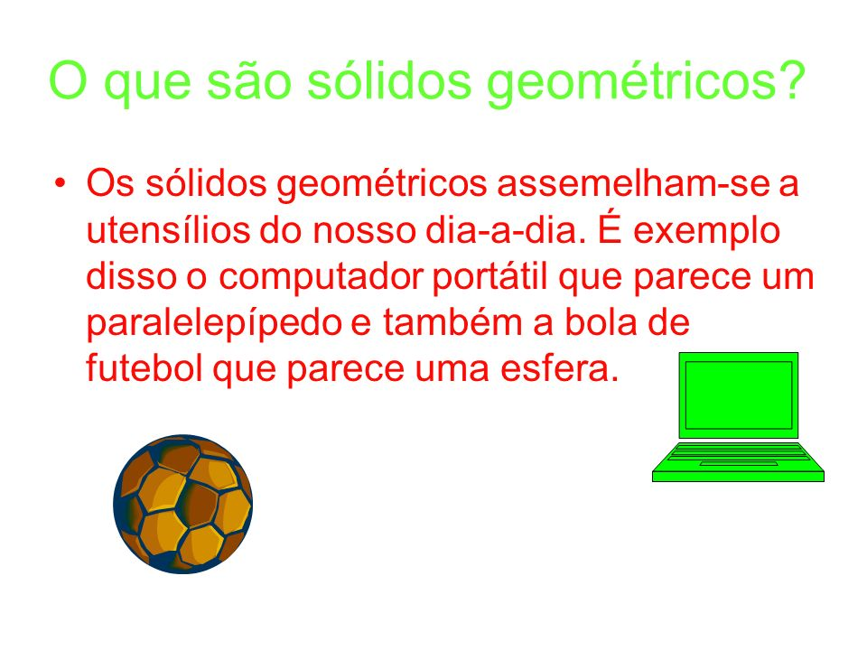 O que são sólidos geométricos