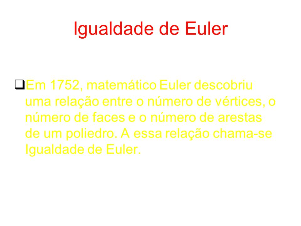 Igualdade de Euler