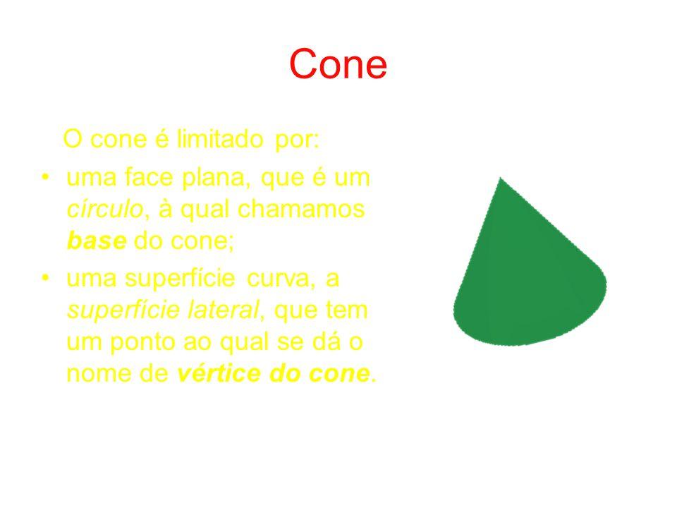 Cone O cone é limitado por: