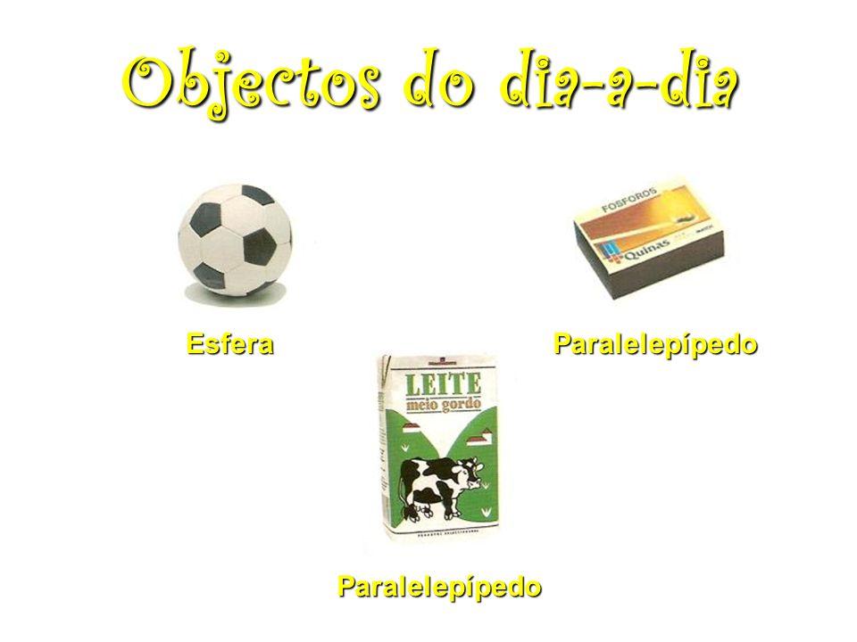 Objectos do dia-a-dia Esfera Paralelepípedo Paralelepípedo