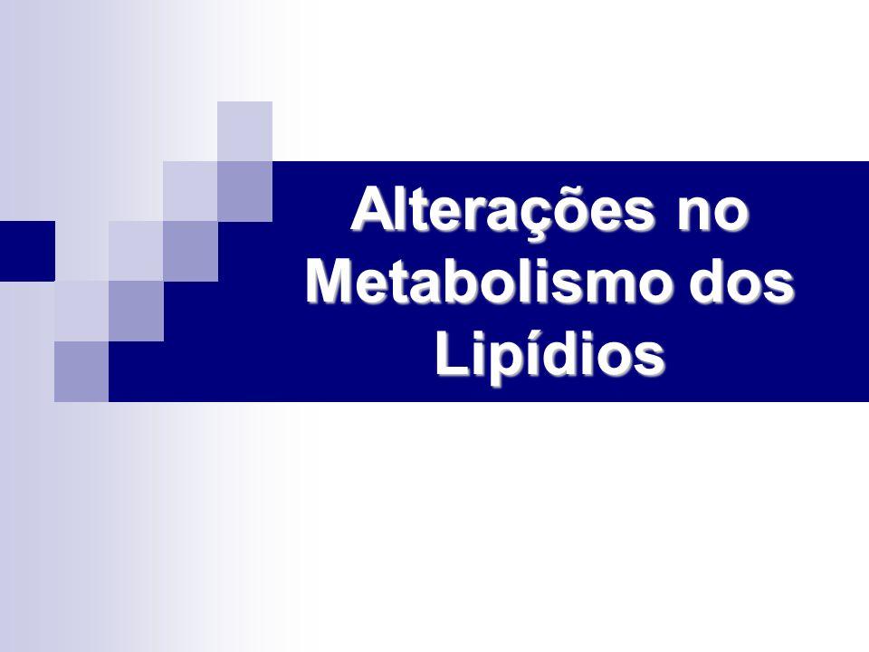 Alterações no Metabolismo dos Lipídios