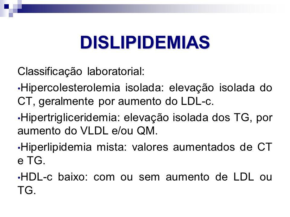 Dislipidemias Classificação laboratorial: