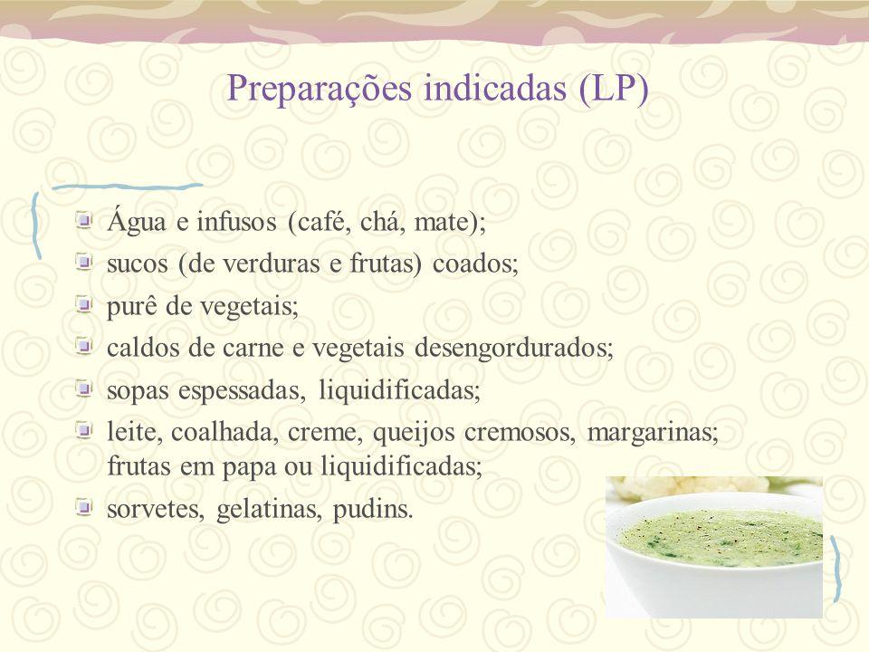 Preparações indicadas (LP)