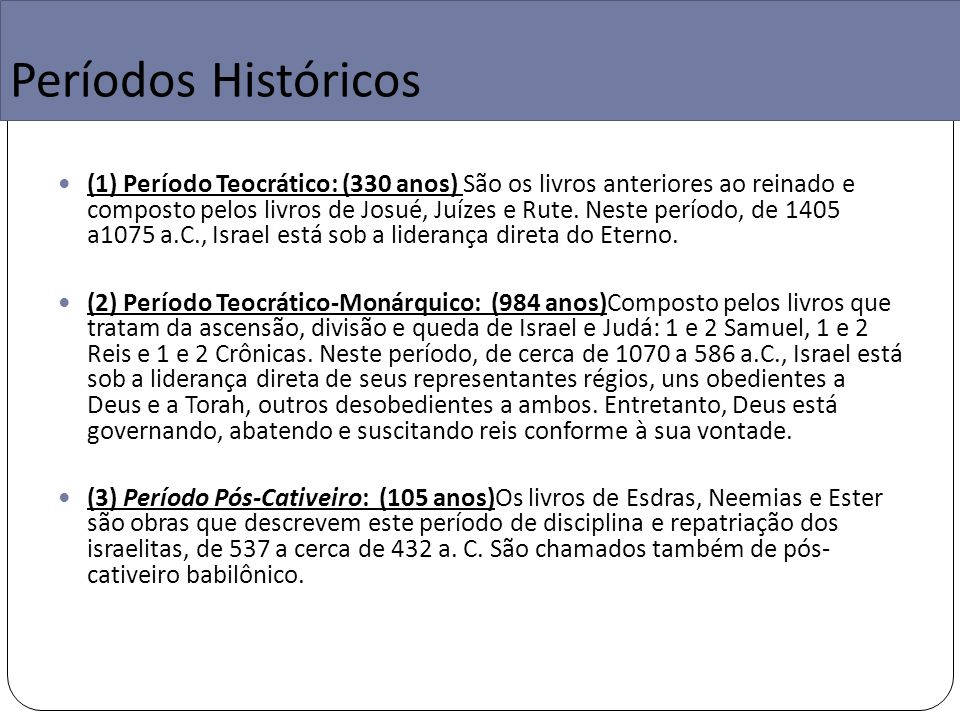 Períodos Históricos
