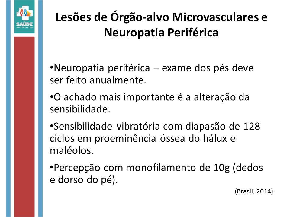 Lesões de Órgão-alvo Microvasculares e Neuropatia Periférica