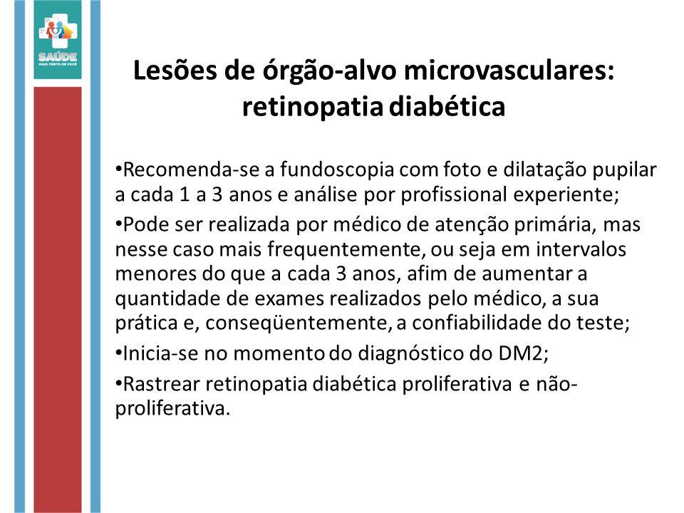 Lesões de órgão-alvo microvasculares: retinopatia diabética