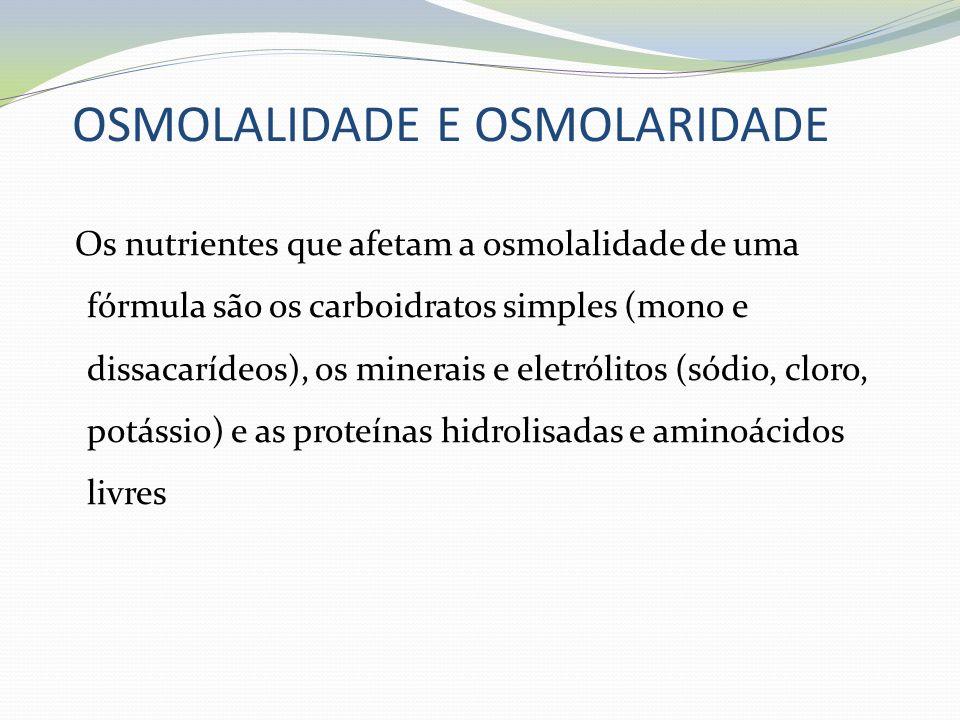OSMOLALIDADE E OSMOLARIDADE
