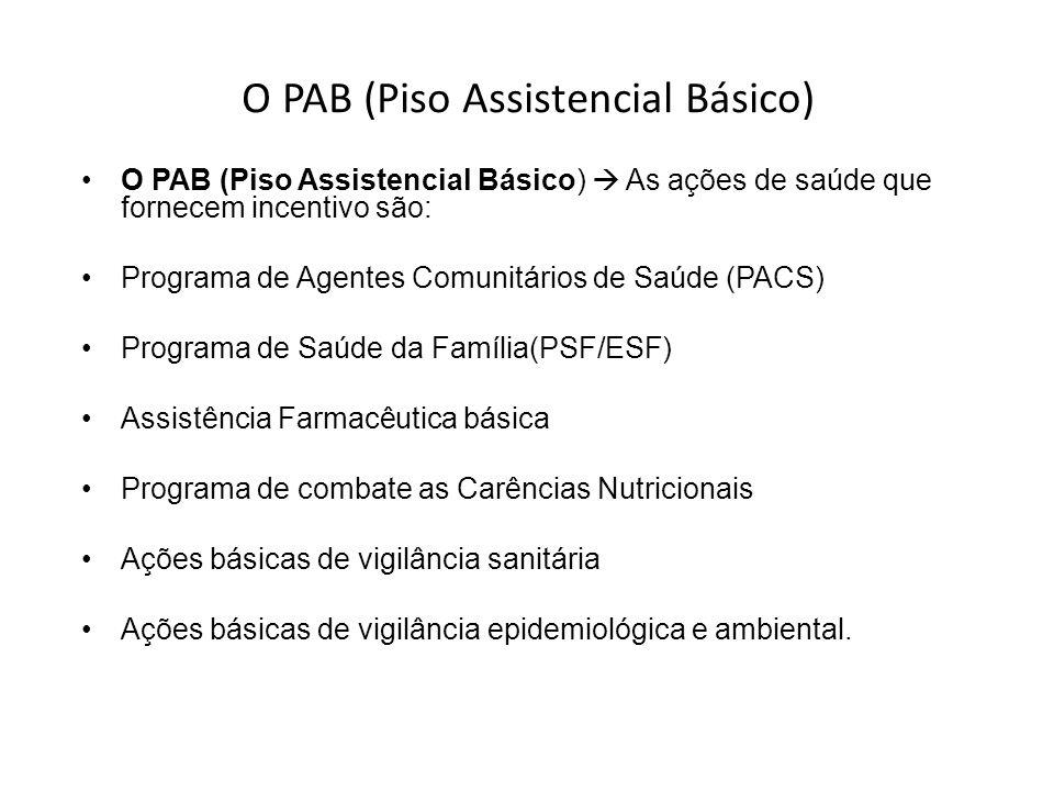O PAB (Piso Assistencial Básico)