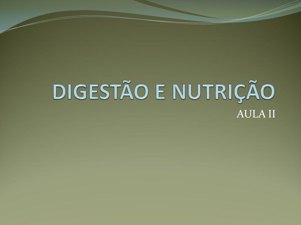 DIGESTÃO E NUTRIÇÃO AULA II