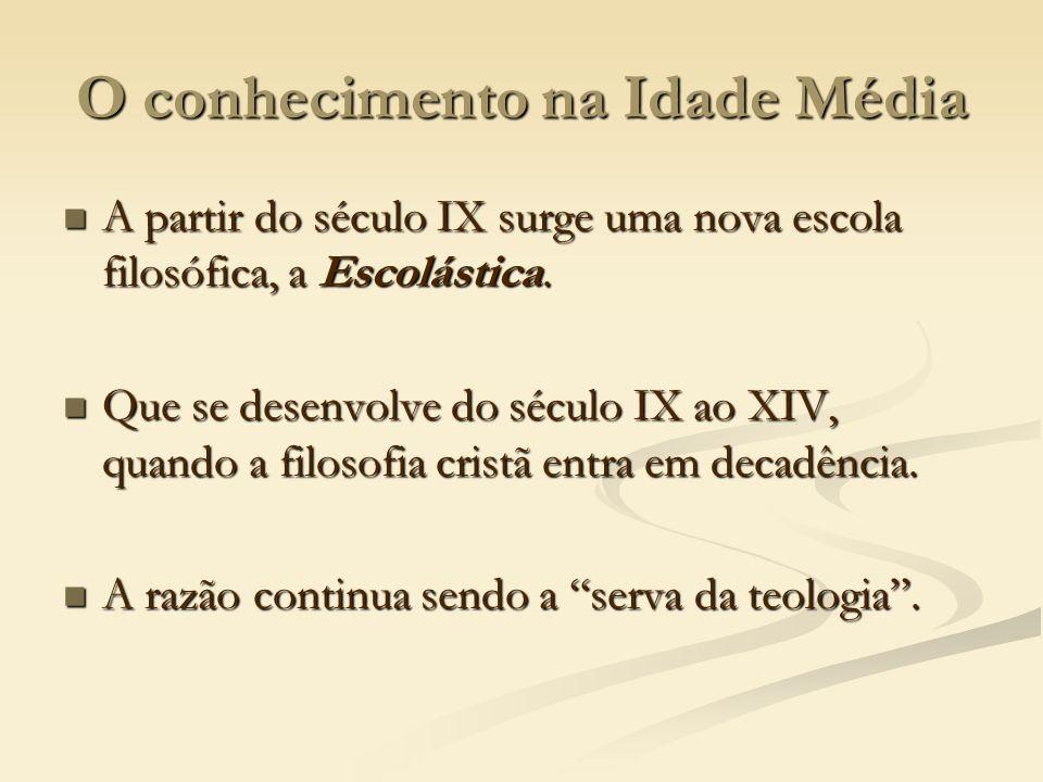 O conhecimento na Idade Média