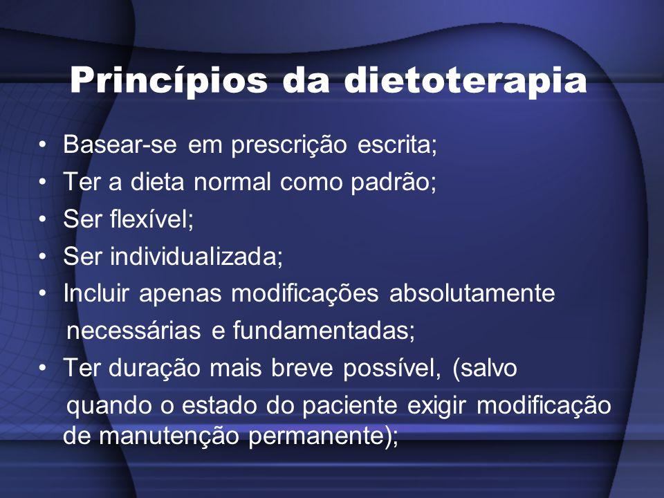 Princípios da dietoterapia