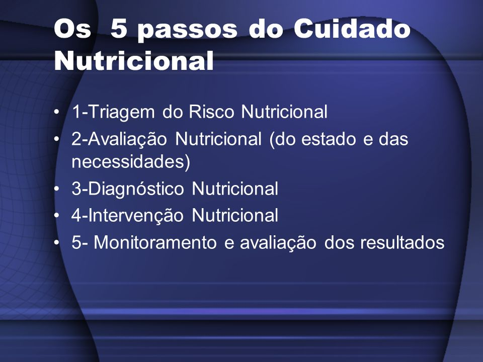 Os 5 passos do Cuidado Nutricional