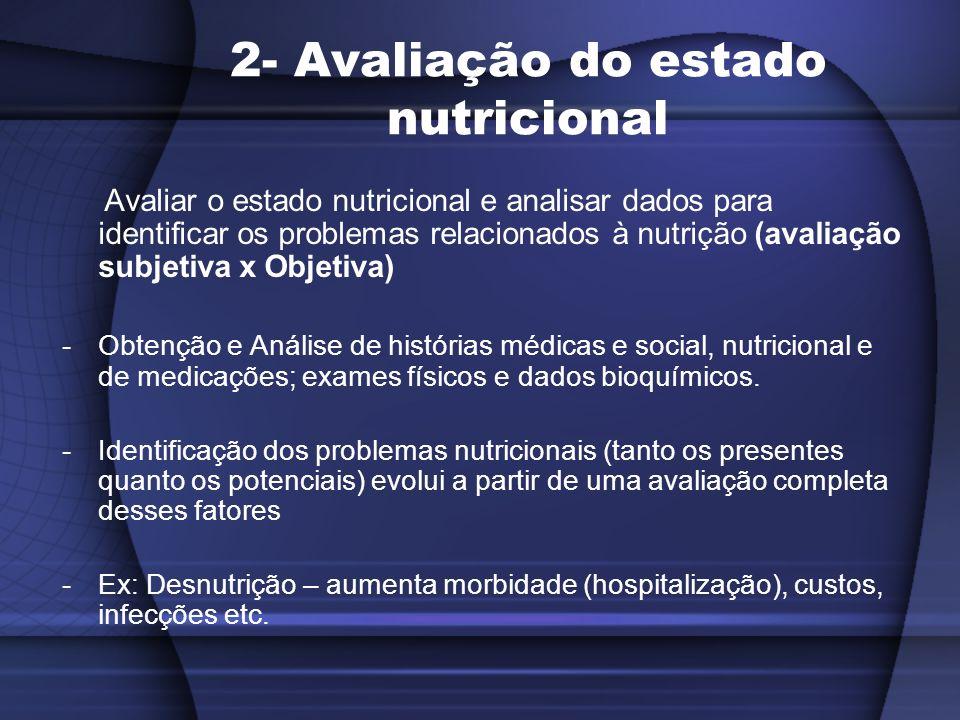 2- Avaliação do estado nutricional