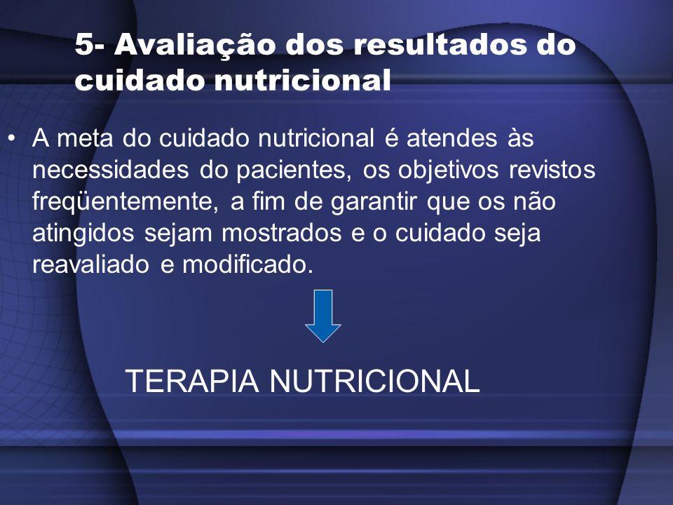 5- Avaliação dos resultados do cuidado nutricional