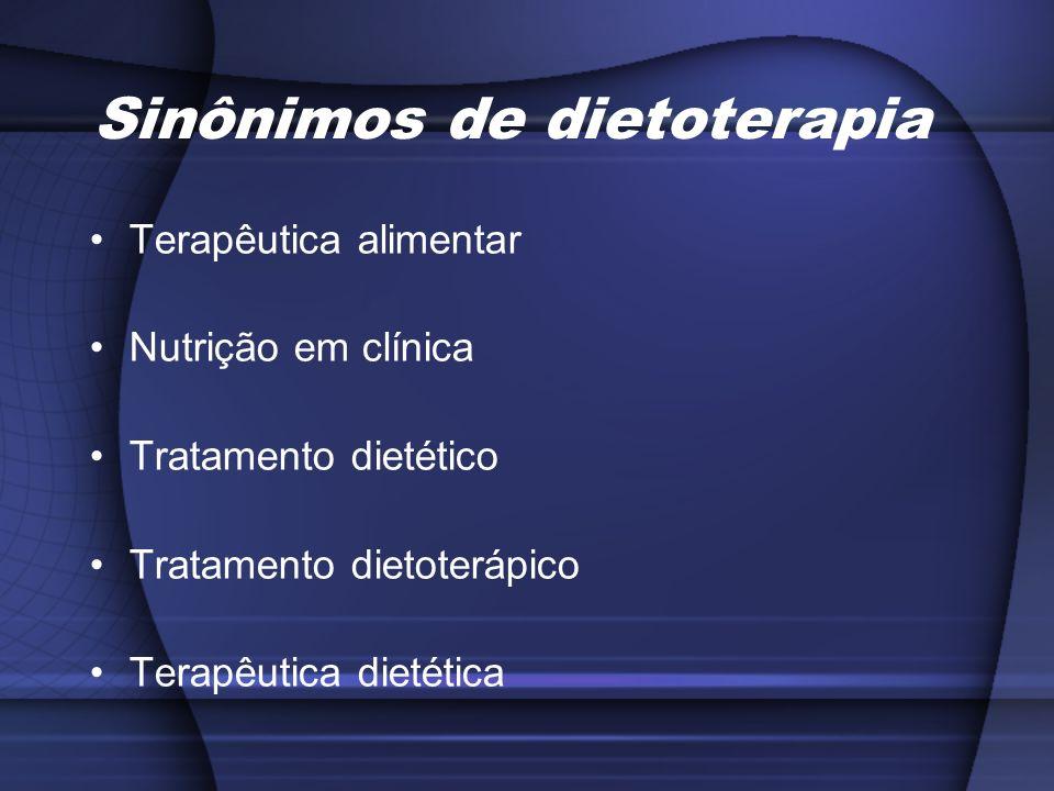 Sinônimos de dietoterapia