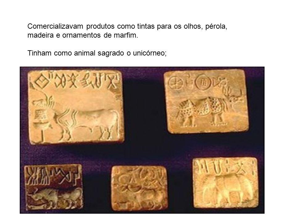 Comercializavam produtos como tintas para os olhos, pérola, madeira e ornamentos de marfim.