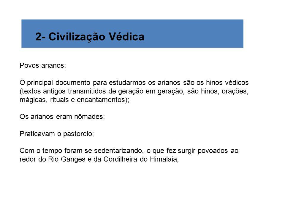 2- Civilização Védica Povos arianos;