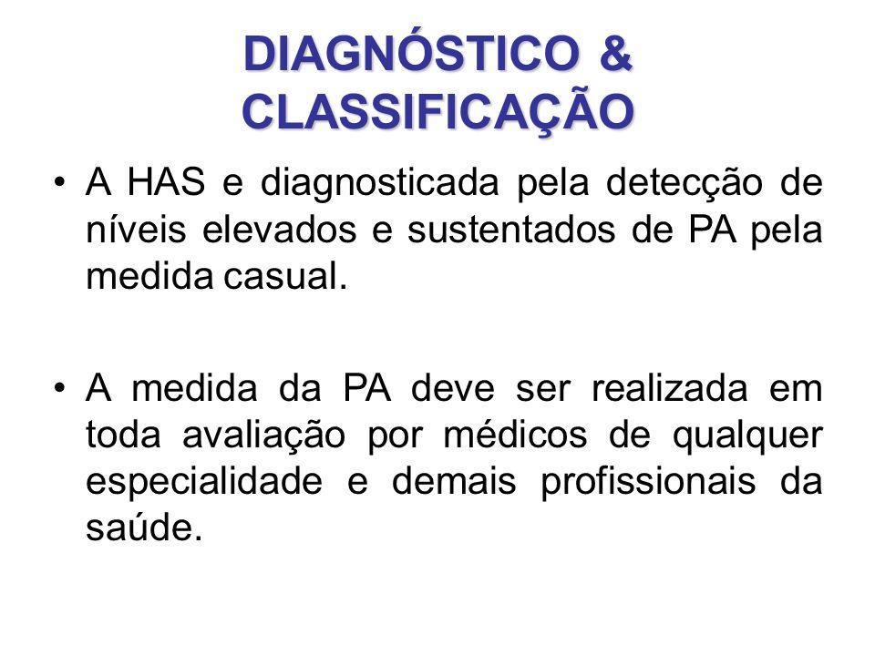 DIAGNÓSTICO & CLASSIFICAÇÃO