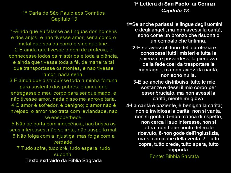 1ª Lettera di San Paolo ai Corinzi