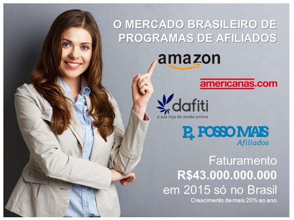 Faturamento R$43.000.000.000 em 2015 só no Brasil