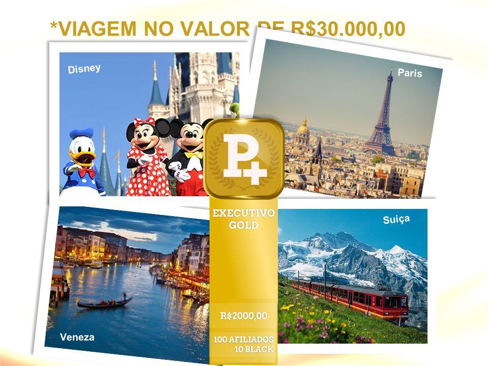 *VIAGEM NO VALOR DE R$30.000,00 Disney Paris Suiça Veneza