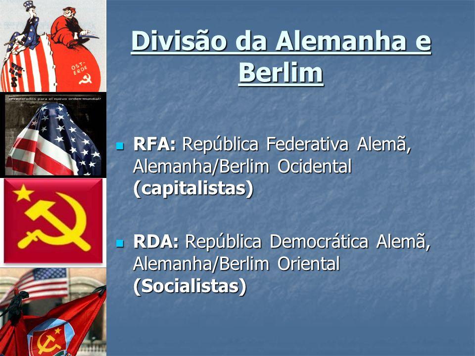 Divisão da Alemanha e Berlim