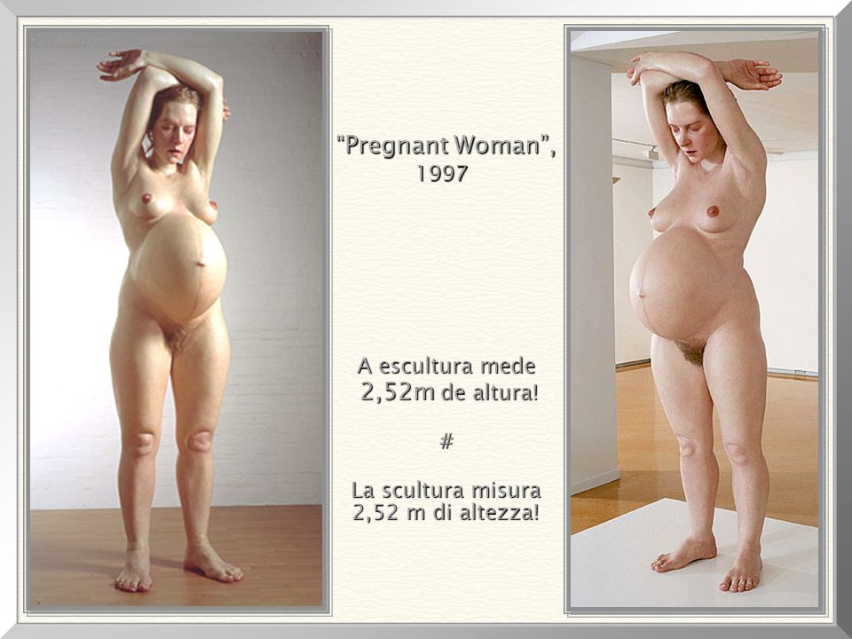 La scultura misura 2,52 m di altezza!