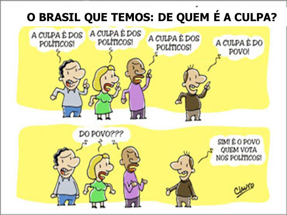 O BRASIL QUE TEMOS: DE QUEM É A CULPA