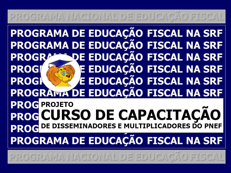 CURSO DE CAPACITAÇÃO PROGRAMA DE EDUCAÇÃO FISCAL NA SRF