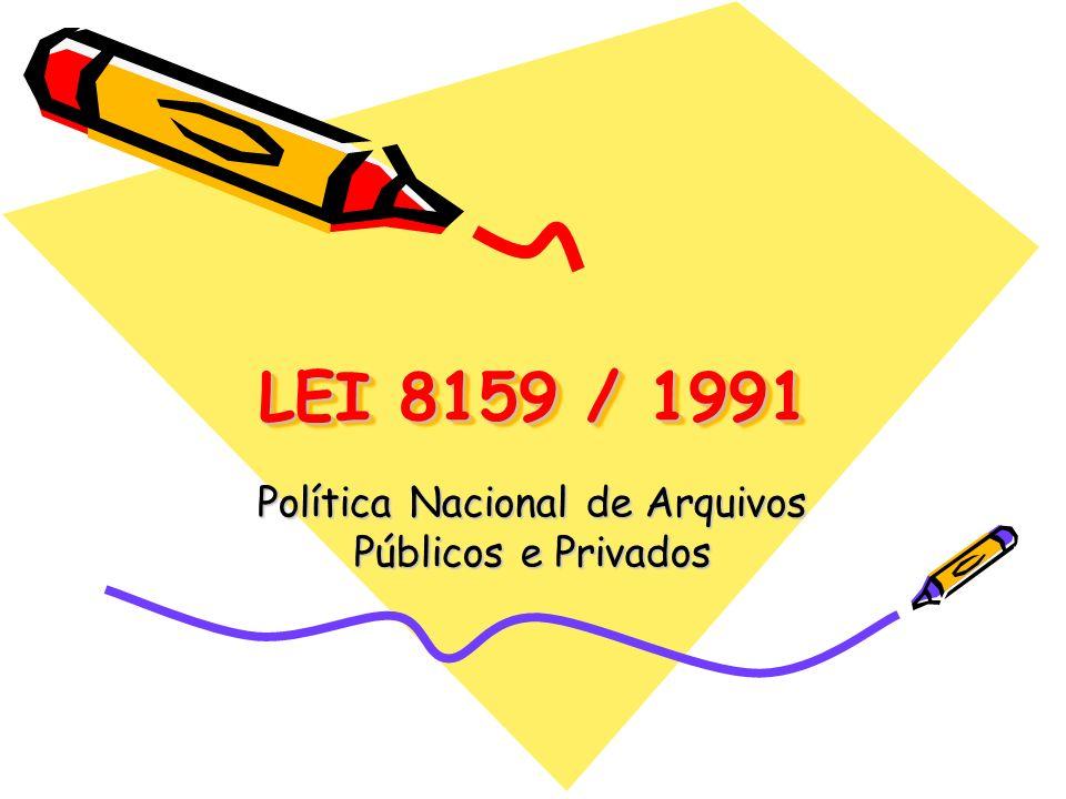 Política Nacional de Arquivos Públicos e Privados