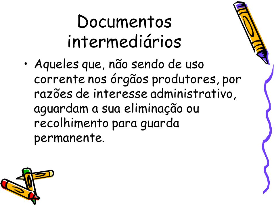 Documentos intermediários