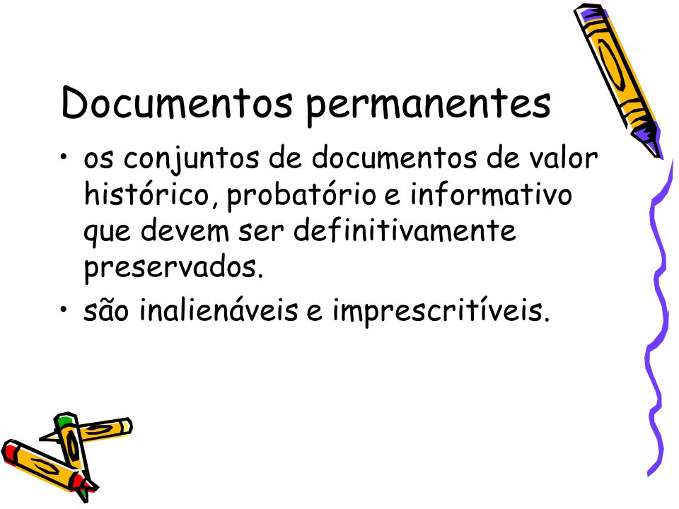 Documentos permanentes