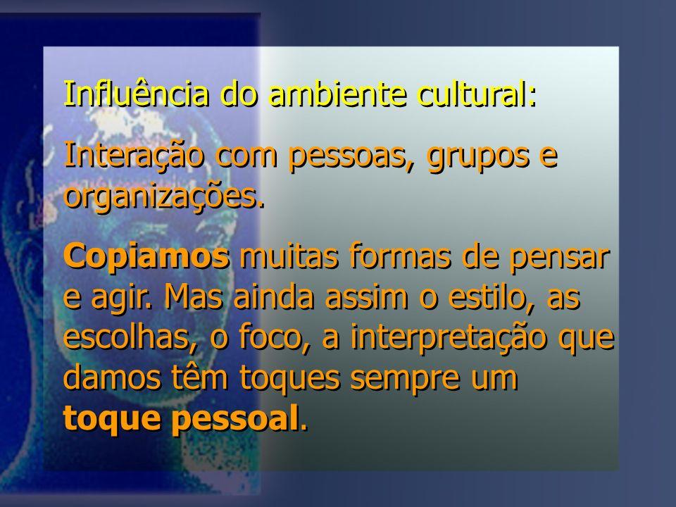 Influência do ambiente cultural: