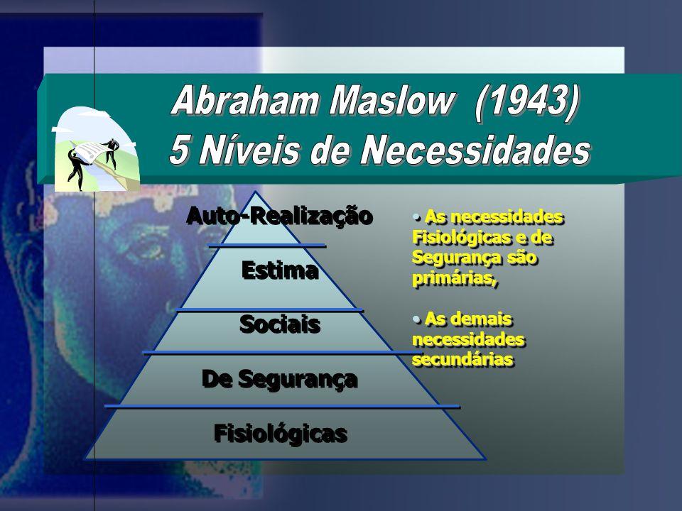 5 Níveis de Necessidades