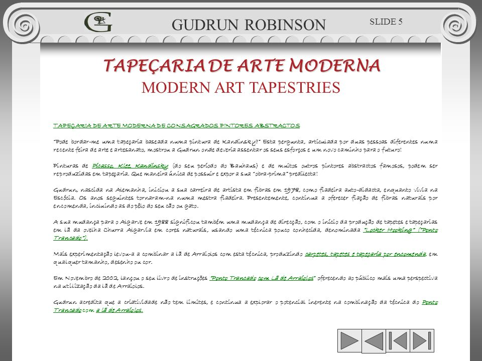 TAPEÇARIA DE ARTE MODERNA