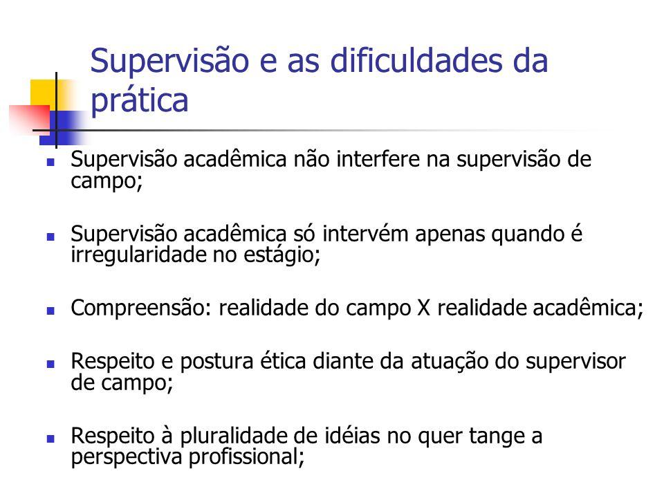 Supervisão e as dificuldades da prática