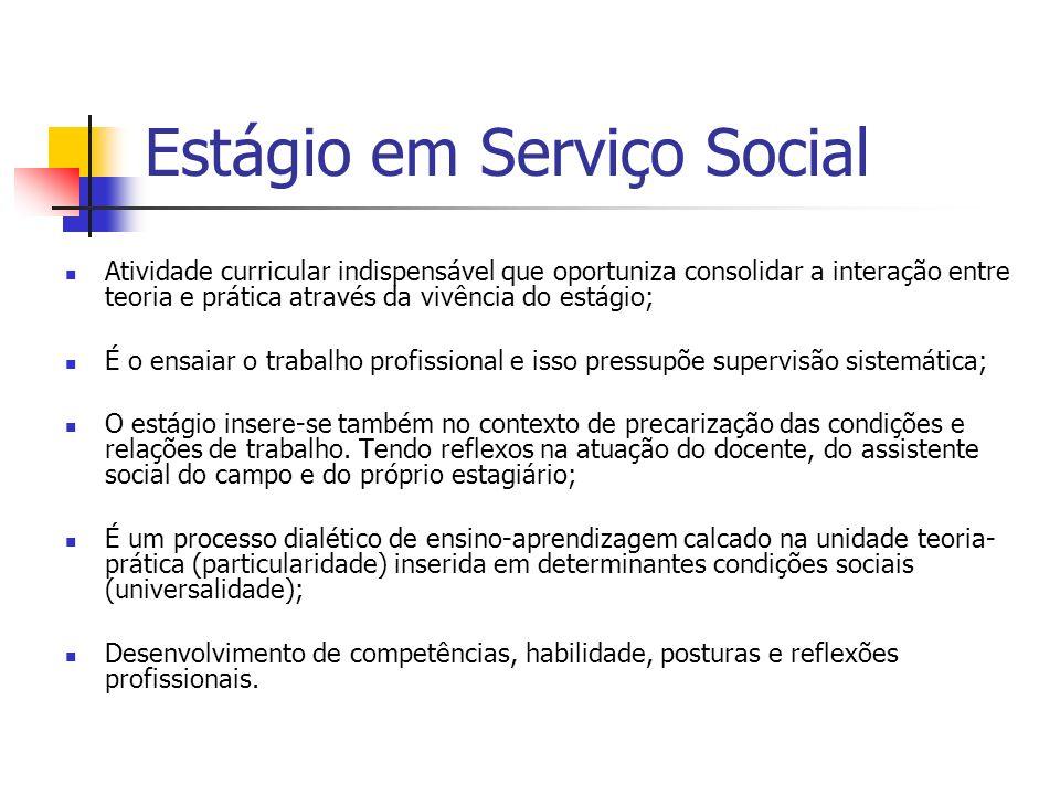 Estágio em Serviço Social