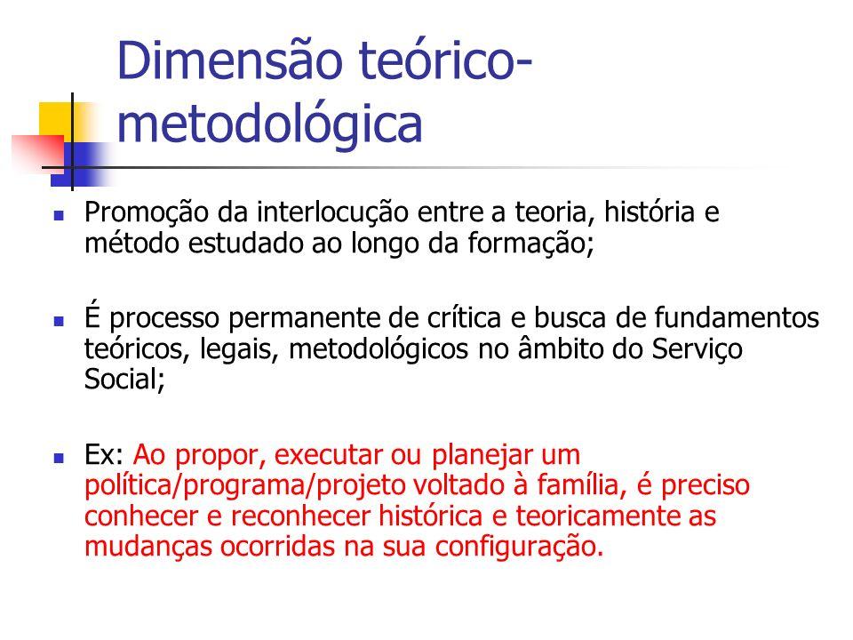 Dimensão teórico-metodológica