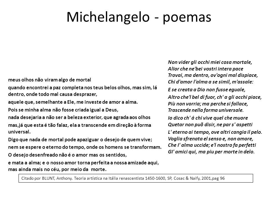 Michelangelo - poemas