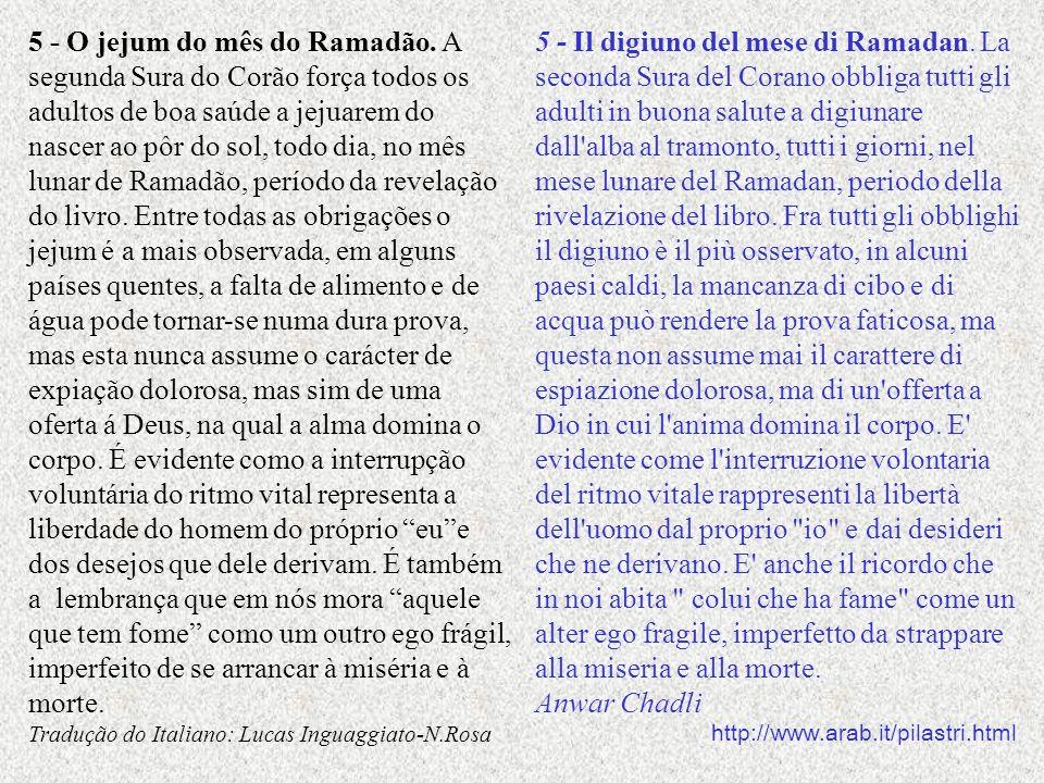 5 - O jejum do mês do Ramadão