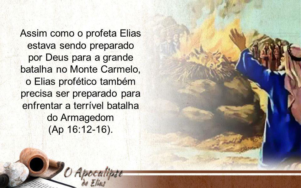 Assim como o profeta Elias estava sendo preparado por Deus para a grande batalha no Monte Carmelo, o Elias profético também precisa ser preparado para enfrentar a terrível batalha do Armagedom