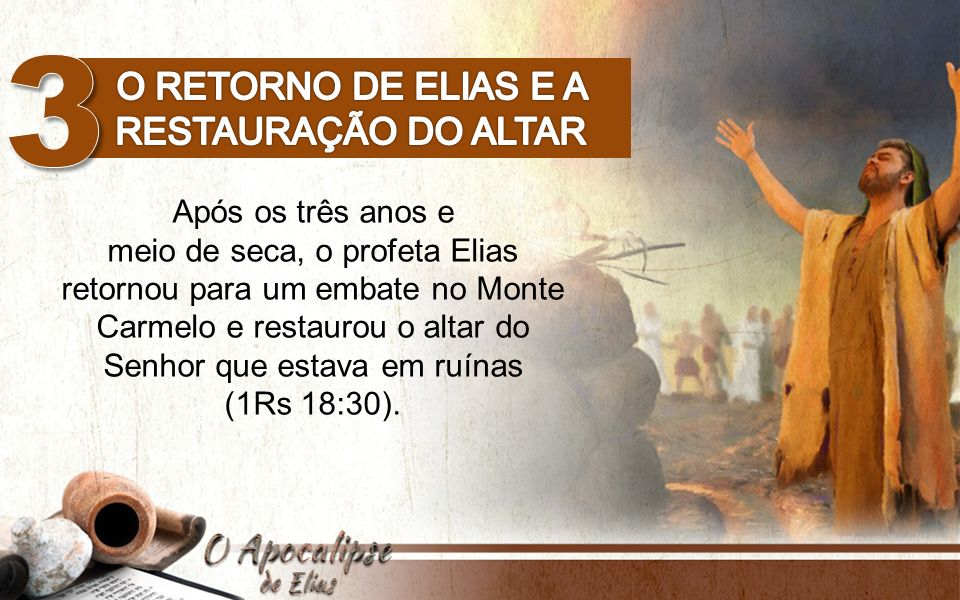 O retorno de Elias e a restauração do altar