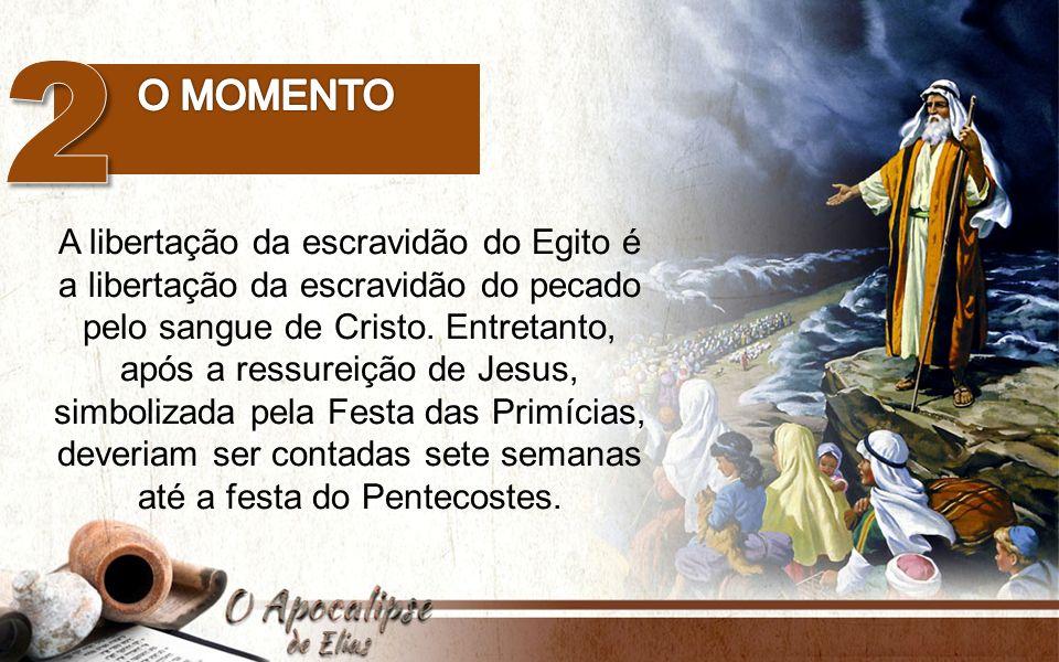 2 O momento. A libertação da escravidão do Egito é a libertação da escravidão do pecado pelo sangue de Cristo. Entretanto,