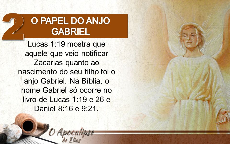 2 O papel do anjo Gabriel.